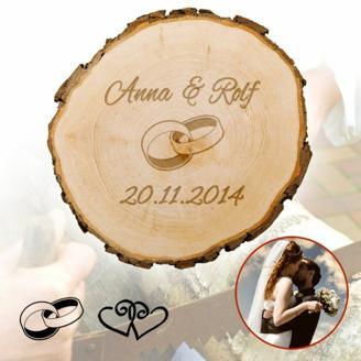 Baumscheibe zur Hochzeit - personalisiert