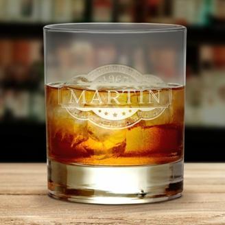 Whiskyglas mit Gravur - Banderole
