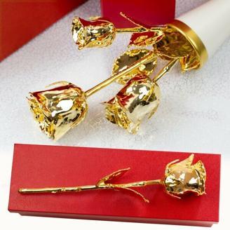 Die goldene Rose mit Gravur