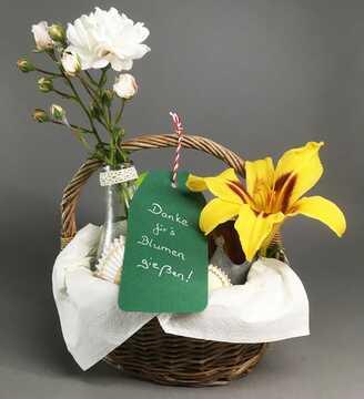 Dankeschön für`s Blumen gießen