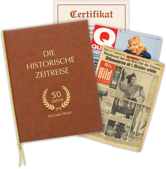 Alte Zeitung vom Tag der Geburt als Geschenk - nur Originale - Verschenken Sie eine Zeitreise.