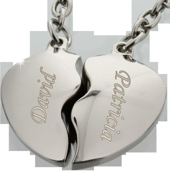 Partner-Schlsselanhnger - Ein Herz fr zwei - das perfekte Liebes-Geschenk mit Gravur