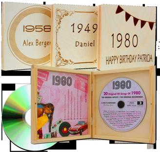 Musik 1920-1995 - Jahrgangsmusik-CD alle Jahrgnge 1920-1995 mit Ihrer individuellen Namens-Gravur