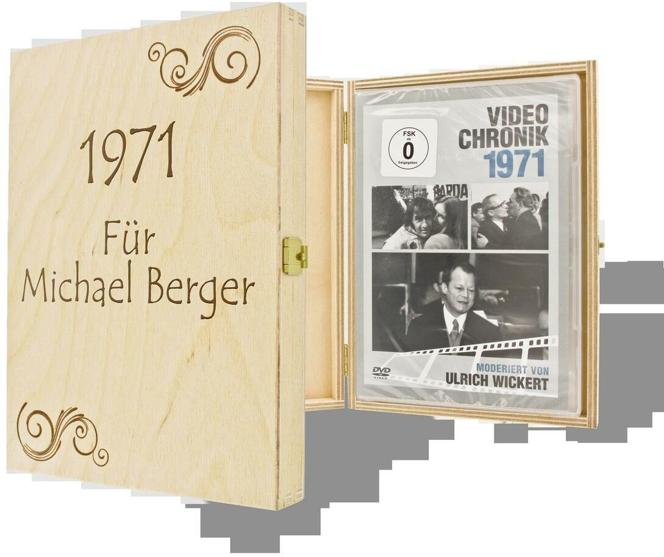 Jahrgangs-DVD-Chronik Alle Jahrg?nge 1939-1975 mit individueller Namens-Gravur