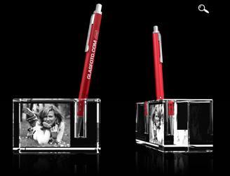 Glasfoto - Stifthalter