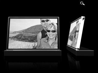 Glasfoto geneigt, 10 x 15, Querformat
