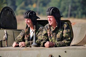 Panzer-Taxi bei Prag