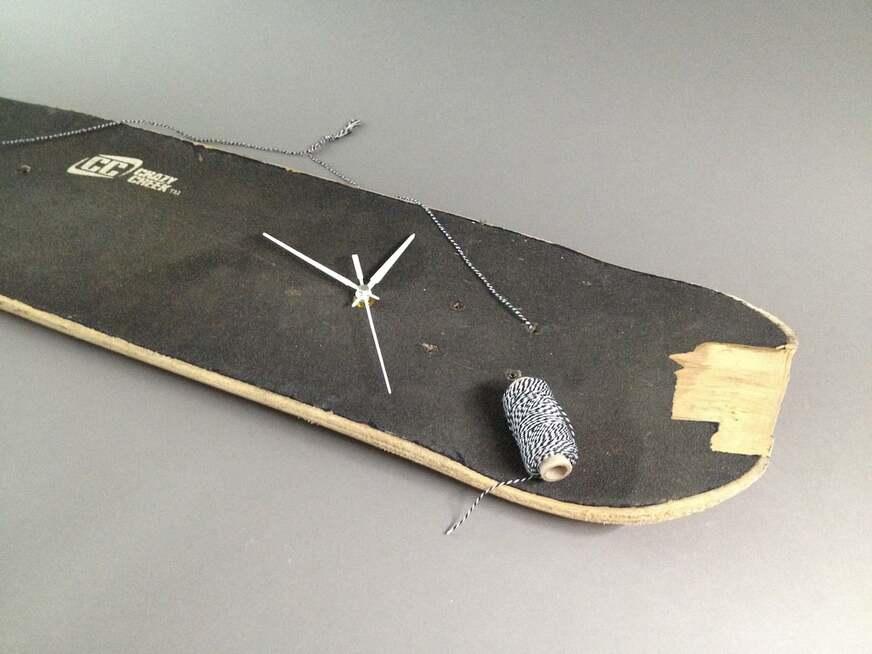 DIY-Skateboard-Uhr