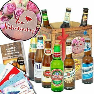 Zum Valentinstag Geschenke für Männer + 9x Liebesbier aus aller Welt + Liebesgeschenke für Männer