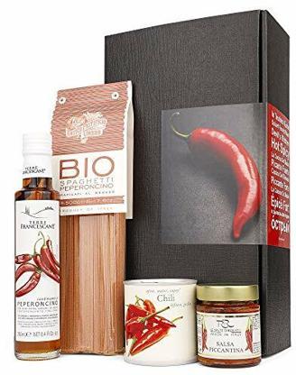 AproposGeschenk - In Teufels Küche - Geschenkset für Scharfschmecker (In Teufels Küche mit Chili-Pflanze)