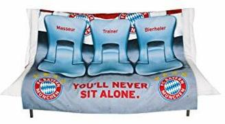 FC Bayern München Sofaüberwurf Stadion 140x170 cm/Tagesdecke Allianz Arena