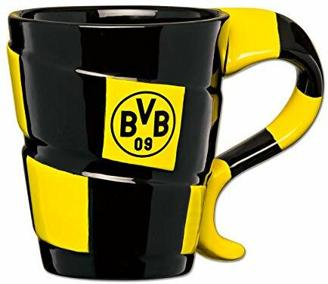 Borussia Dortmund BVB-Tasse mit Schal-Design, Schwarz/Gelb