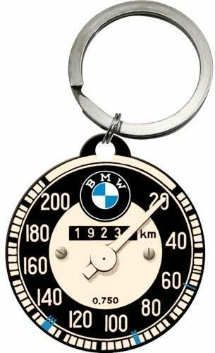 Nostalgic-Art Retro BMW Schlüsselanhänger Rund 4 cm, Tachometer