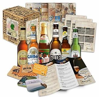 Bier Spezialitäten aus Deutschland (die besten deutschen Biere) als Probierpaket zum Verschenken als Geschenkverpackung (Bier + Tasting-Anleitung + Bierbroschüre + Brauereigeschenke + Geschenkkarton) 6 x 0,33l
