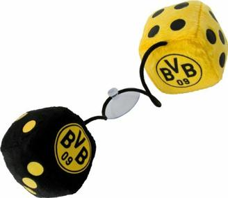 Borussia Dortmund BVB Autowürfel, 8cm x 8cm