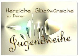 DigitalOase Glückwunschkarte zur Jugendweihe Grußkarte Jugendweihekarte Format DIN A4 A3 Klappkarte PanoramaUmschlag #CRYSTAL