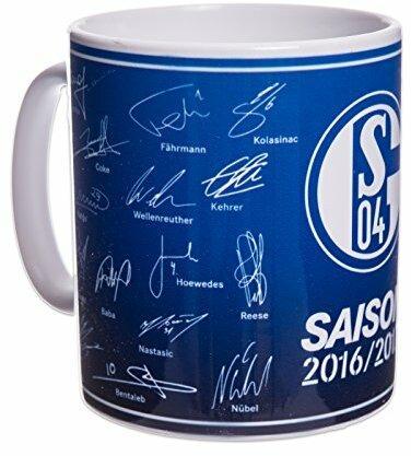"""FC Schalke 04 Tasse """"Mannschaft, Team 16/17"""" mit Unterschriften"""
