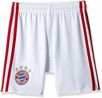 adidas Jungen Fußball/Heim-shorts FC Bayern München Replica Heimshorts, White/Fcb True Red, 176