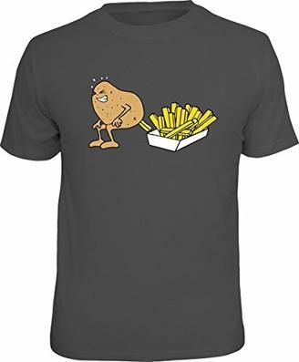 Lustiges Sprüche T-Shirt Geschenkartikel T-Shirt mit Urkunde Kartoffel Pommes Frites Fun Artikel Partygeschenk