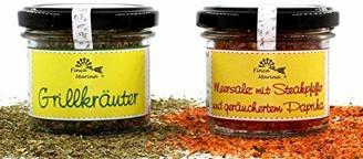"""""""Grill-Duo"""" Grillkräuter & Meersalz mit Steakpfeffer und geräuchertem Paprika"""