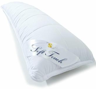 aqua-textil Soft Touch Seitenschläferkissen 40 x 145 cm Mikrofaser Stillkissen Hohlfaser Kissen Schwangerschaftskissen