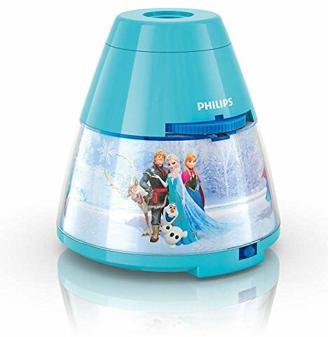 Philips Disney Frozen LED Projektor Tischleuchte, hellblau 717690816