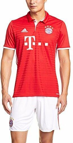 adidas Herren Fußball/Heim FC Bayern München Replica Trikot, Fcb True Red/White, L