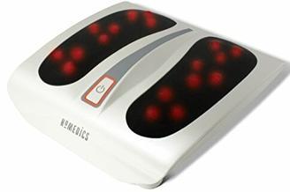HoMedics Shiatsu Fußmassagegerät Elektrisch - Massagegerät für Füße inkl. 18 Massageköpfen, tiefenwirksame Fußpflege mit Wellness Wärmefunktion - Mehr Vitalität für müde Füße und Beine - Weiß