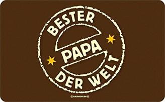 """Super Geschenkidee zum Geburtstag oder Vatertag! Frühstücksbrettchen Motiv: """"Bester Papa der Welt"""""""