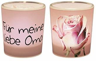 La Vida 1010541310 Geschenk für Dich Teelichthalter / Windlicht FÜR MEINE LIEBE OMA