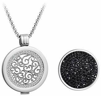 Meilanty Kette Damen Coins 33mm Mit Anhänger Halskette Silber Edelstahl Rolo Kette 80cm