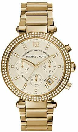 Michael Kors Damen Chronograph Quarz Uhr mit Edelstahl Armband MK5354