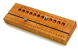 Ewiger Kalender aus schönem Holz | Echtholz Kalender handgemacht | Hochwertiges Mitarbeitergeschenk mit Stil | Handmade Kundengeschenk oder Geschenk für Kunden zu allen Anlässen | Mitbringsel Kalender für Geschäftspartner