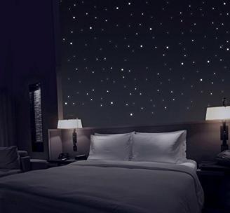 TALINU Sternenhimmel aus 368 Leuchtpunkten mit starker Leuchtkraft - Leuchtsterne, Wandsticker Sterne, Leuchtaufkleber, Fluoreszierend und im Dunkeln leuchtend