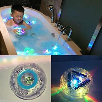 W.Air Lichtspielzeug für die Badewanne, Party in der Wanne, für Kinder, wasserdicht, bunte LED-Beleuchtung
