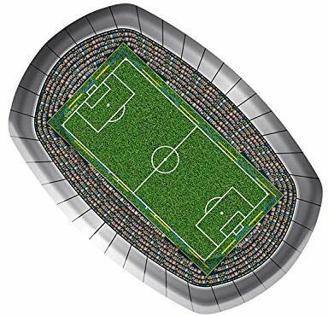 Folat 26200 Fußball Party Teller 18x27 cm (8 Stück)