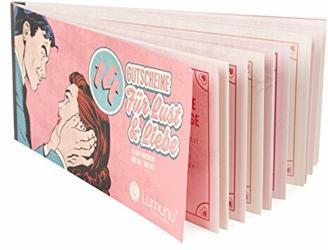 Deluxe Gutscheinheft 14 Gutscheine für Lust & Liebe, erotische Geschenkidee für Paare, Verwöhngutscheine für Sie, von Venize
