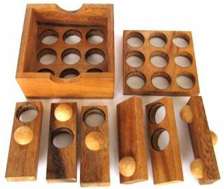 LOGOPLAY Golf Puzzle - 3D Puzzle - Denkspiel - Knobelspiel - Geduldspiel - Logikspiel aus Holz