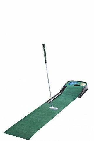 CEBEGO Golf Puttingmatte Complete-Puttingteppich mit Putter & Golfball & Kühlschrankmagnet Golf, Golfgeschenk Indoor-Put-Training Puttingset