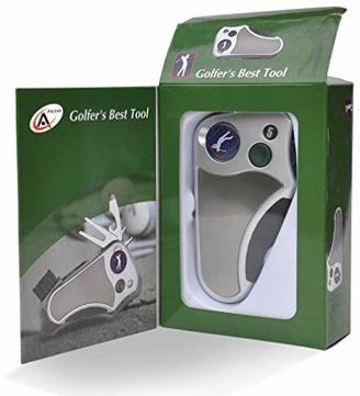 Golfer's Best Tool Golf Multitool All in One - Schlagzähler, Divot Repair Tool, Bürste, Cleat Tightener, Club Groove Cleaner, beste Golf-Geschenkidee für Männer und Frauen, Souvenir, Geschenk