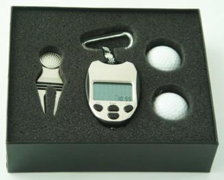 Unbekannt Golf Geschenk Set Deluxe mit Scorezähler mit 2 Golfbällen und Pitchgabel inkl. Marker