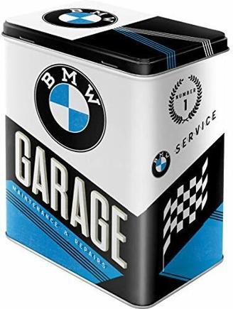 Nostalgic-Art 30139, BMW Garage Vorratsdose L, Metall, bunt, 10 x 14 x 20 cm