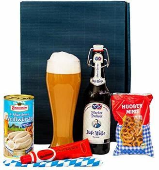 Geschenkset Augsburg   Bayern Geschenkkorb gefüllt mit Bier & bayrische Spezialitäten   Bayerisches Geschenk Set für Männer zu Vatertag & Geburtstag   Typisch deutscher Wurst Präsentkorb