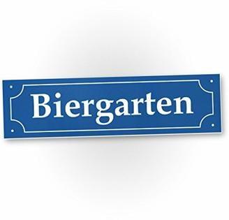 DankeDir! Biergarten Straßenschild 40 x 10 cm - Party Deko Oktoberfest Party - Motto Party Wiesn Bayern Geschenkidee Geburtstagsgeschenk Bester Freund - Freundin Lustiges originelles Geschenk