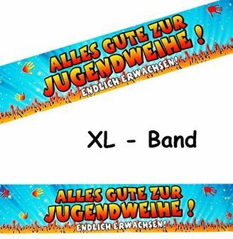 15 m Absperrband -  Alles Gute zur Jugendweihe !  - wasserfest / für Innen & Außen - Dekoband auch als Tischdeko - Folie - zur Feier - Jugend Fest & Feier /..