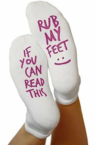 Kindred Bravely Ideal bei Schwangerschaft und Entbindung inkl. lustigem Spruch - Rutschfeste Socken Rub My Feet