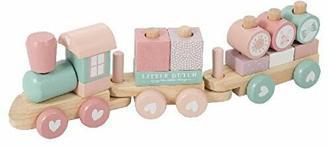 Little Dutch Holz-Eisenbahn mit Steck-Formen 7036 Holz Eisenbahn mit Steckformen Ocean blau Little Dutch 4479 Holz-Eisenbahn mit Steck-Formen Adventure rosa (Rosa)