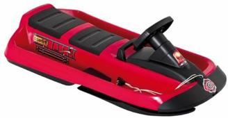 Hamax Kinder Rodelschlitten SNO Fire Doppelsitzer, rot/schwarz, 109x55,5x18,5